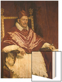 Pope Innocent X Wood Print by Diego Velazquez