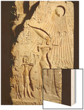 Akhenaten and His Family Offering to the Sun-God Aten Wood Print