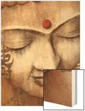 Serene Buddha Wood Print by Raspin Stuwart
