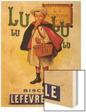 Lu Lu Biscuits Wood Print by Firmin Etienne Bouisset