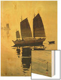 Mist, from a Set of Six Prints of Sailing Boats Wood Print by Yoshida Hiroshi