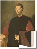Portrait of Niccolo Machiavelli Wood Print by Santi Di Tito