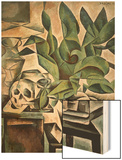 Still Life with Skull Wood Print by Bohumil Kubista