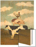 Farm Animals Wood Print