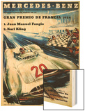 Mercedes Benz Auto Racing Promotion Wood Print by  Lantern Press