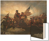 Washington Crossing the Delaware Wood Print by Emanuel Leutze