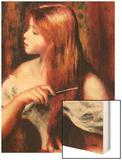 Combing Girl Wood Sign by Renoir Pierre-Auguste