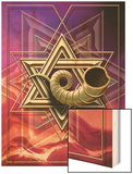 The Star of David with a Shofar Coming out of the Center Prints