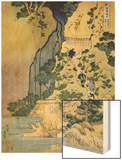 The Kannon Shrine at the Kiyo Falls at Sakanoshita on the Tokaido, from the Series A Journey to the Wood Print by Katsushika Hokusai