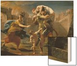 Aeneas and His Family Fleeing Troy Wood Print by Pompeo Batoni