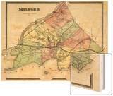 1868, Milford, Connecticut, United States Wood Print