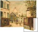 Le Sacre-Coeur a Montmartre Wood Print by Maurice Utrillo