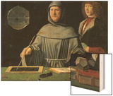 Portrait of Fra Luca Pacioli with a Pupil Wood Print by Jacopo de'Barbari