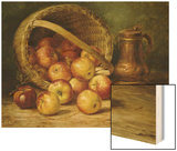 A Basket of Apples Wood Print by August Laux