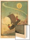 Wynken, Blynken, and Nod Sailed Off In a Wooden Shoe Wood Print by Eugene Field