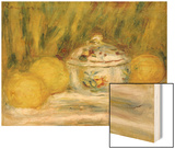 Sugar Bowl and Lemons, 1915 Wood Sign by Renoir Pierre-Auguste