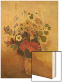 Vase of Flowers Wood Print by Redon Odilon