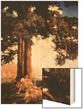 Hilltop Wood Print by Maxfield Parrish
