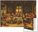 The Last Supper Wood Print by Pieter Coecke van Aelst (Studio of)