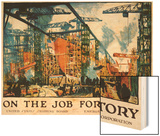 On the Job for Victory Poster Wood Print by Jonas Lie