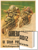 Motorcycle Racing Promotion Wood Print by  Lantern Press