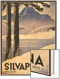 Advertising poster Silvaplana, Switzerland Wood Print by Johannes Handschin