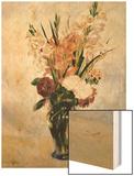 Gladiolus Wood Sign by Renoir Pierre-Auguste