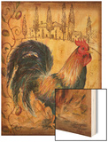 Tuscan Rooster I Wood Print by Todd Williams