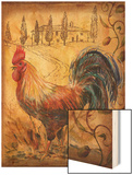 Tuscan Rooster II Wood Print by Todd Williams