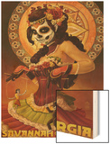 Dia De Los Muertos Marionettes - Savannah, Ga Wood Print by  Lantern Press