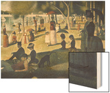 A Sunday on La Grande Jatte 1884, 1884-86 Wood Print by Seurat Georges