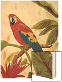 Tropical Red Wood Print by Colleen Sarah