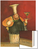 Jumbo Martini Wood Print by Jennifer Garant