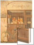 Cheese Shop Errand Wood Print by Fabiano Marco