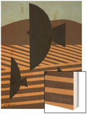 Cultivate with Three Birds Wood Print by Jerry Kott