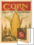Fresh Corn Wood Print by K. Tobin