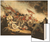 The Battle of Bunker Hill Wood Print by John Trumbull