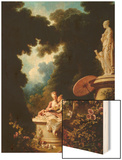 Love Letters Wood Print by Jean-Honoré Fragonard