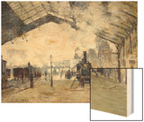 Arrival of the Normandy Train, Gare Saint-Lazare Wood Print by Monet Claude