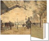 Arrival of the Normandy Train, Gare Saint-Lazare Art by Monet Claude