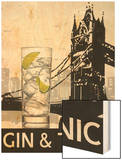 Gin and Tonic Destination Wood Print by Fabiano Marco