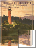 Jupiter Inlet Lighthouse - Jupiter, Florida Wood Print by  Lantern Press