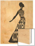 Text Dress Wood Print by Lisa Jones