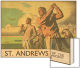 St. Andrews Golf Course Wood Print