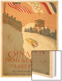 Olympic Bobsled Poster Wood Print