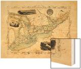 1848, Canada, Ontario, Quebec Wood Print
