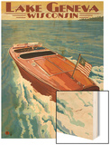 Lake Geneva, Wisconsin - Chris Craft Wooden Boat Poster by  Lantern Press