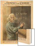 Albert Einstein at Princeton 1950 Wood Print by Walter Molini