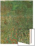Garden Landscape Wood Print by Gustav Klimt