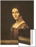 La Belle Ferronniere Wood Print by  Leonardo da Vinci